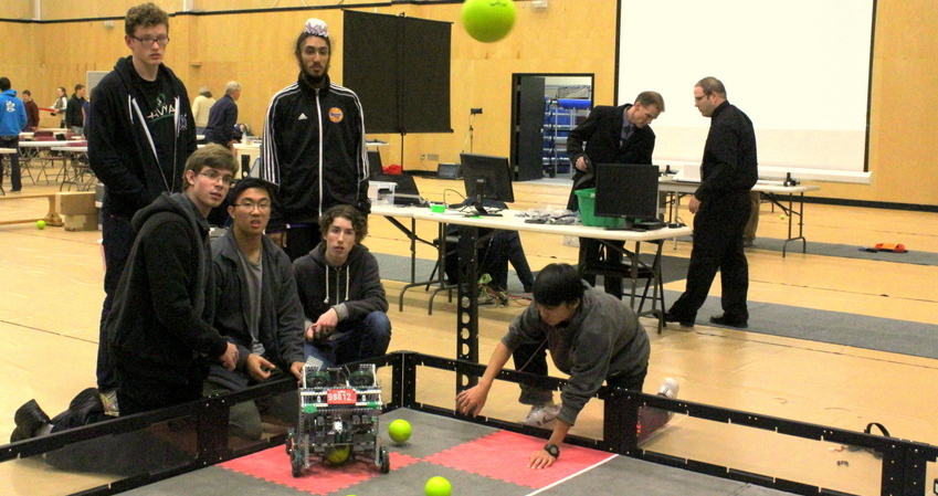 Robotic Club Students show off their design at competition