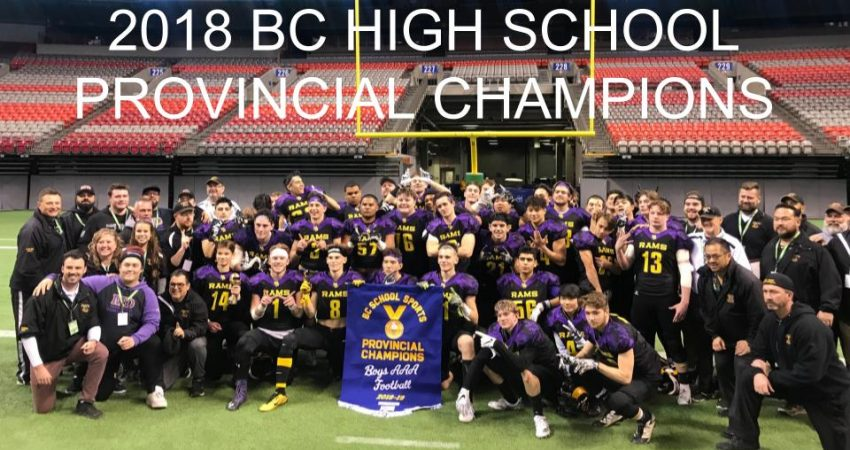 2018 Provincial Champions… Go Rams!