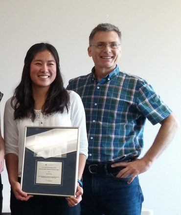 Michelle Song with Dr. Brad Nelson of the BC Cancer Agency's Trev and Joyce Deeley Research Center
