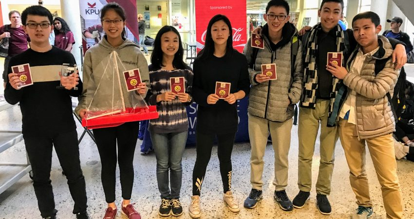 Mount Doug's Junior Science teams wins the Kwantlen Science Challenge for Design and Overall Provincial Champions